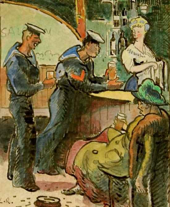 Les Marins - Ludovic-Rodo Pissarro (1878 - 1952)