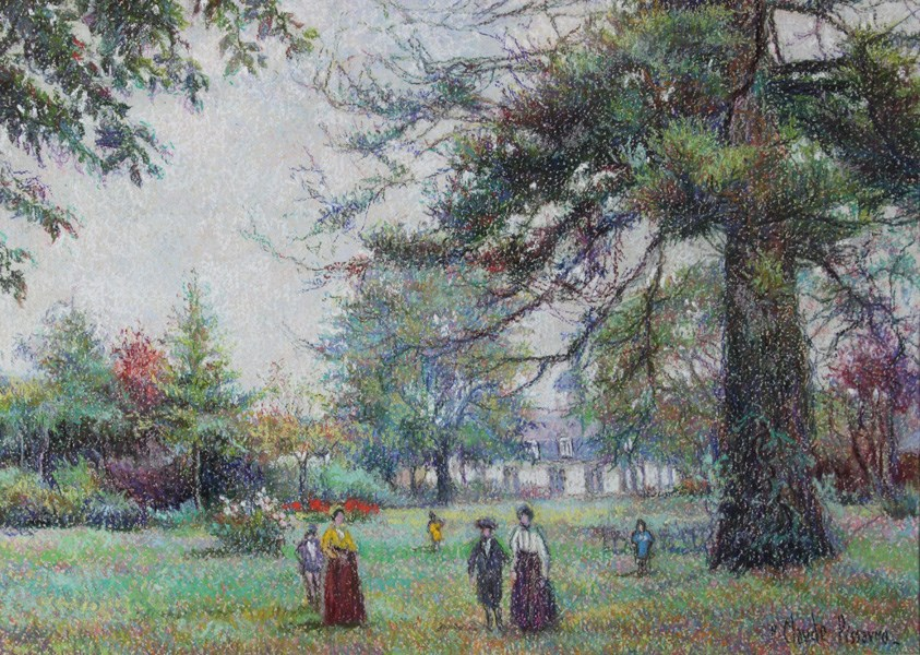 Dimanche à la Campagne - H. Claude Pissarro (b. 1935 - )