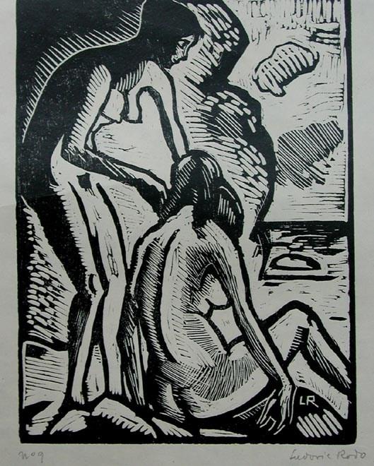 Bathers - Ludovic-Rodo Pissarro (1878 - 1952)