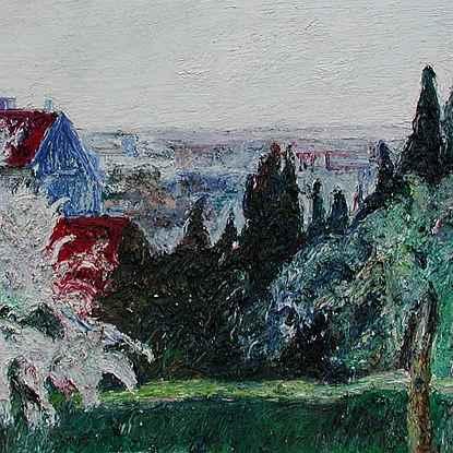 Pignon Bleu - Mareil - Hugues  Pissarro dit Pomié (b. 1935 - )