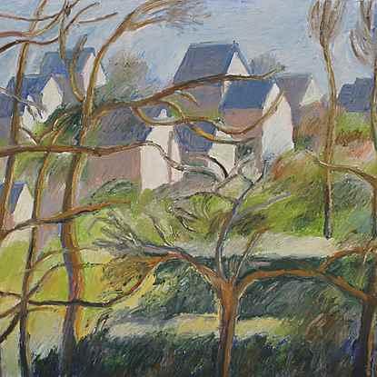 Les Maisons Neuves  - Hugues  Pissarro dit Pomié (b. 1935 - )