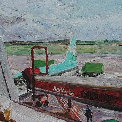Dublin Airport - Hugues  Pissarro dit Pomié (b. 1935 - )
