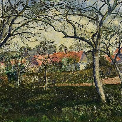 Toits Rouges à Menton - Georges Manzana Pissarro (1871 - 1961)