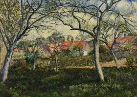 Georges Manzana Pissarro - Toits Rouges à Menton