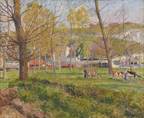 Georges Manzana Pissarro - Un Paysage Pastoral