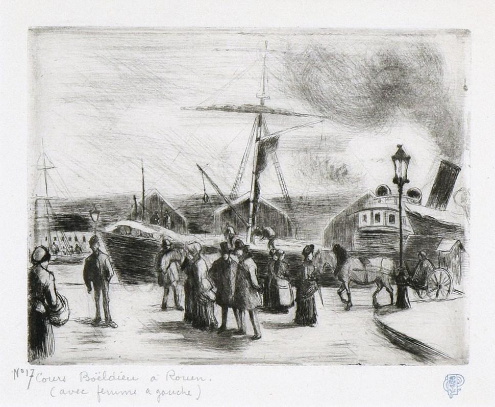 Cours Boieldieu, à Rouen - Camille Pissarro (1830 - 1903)