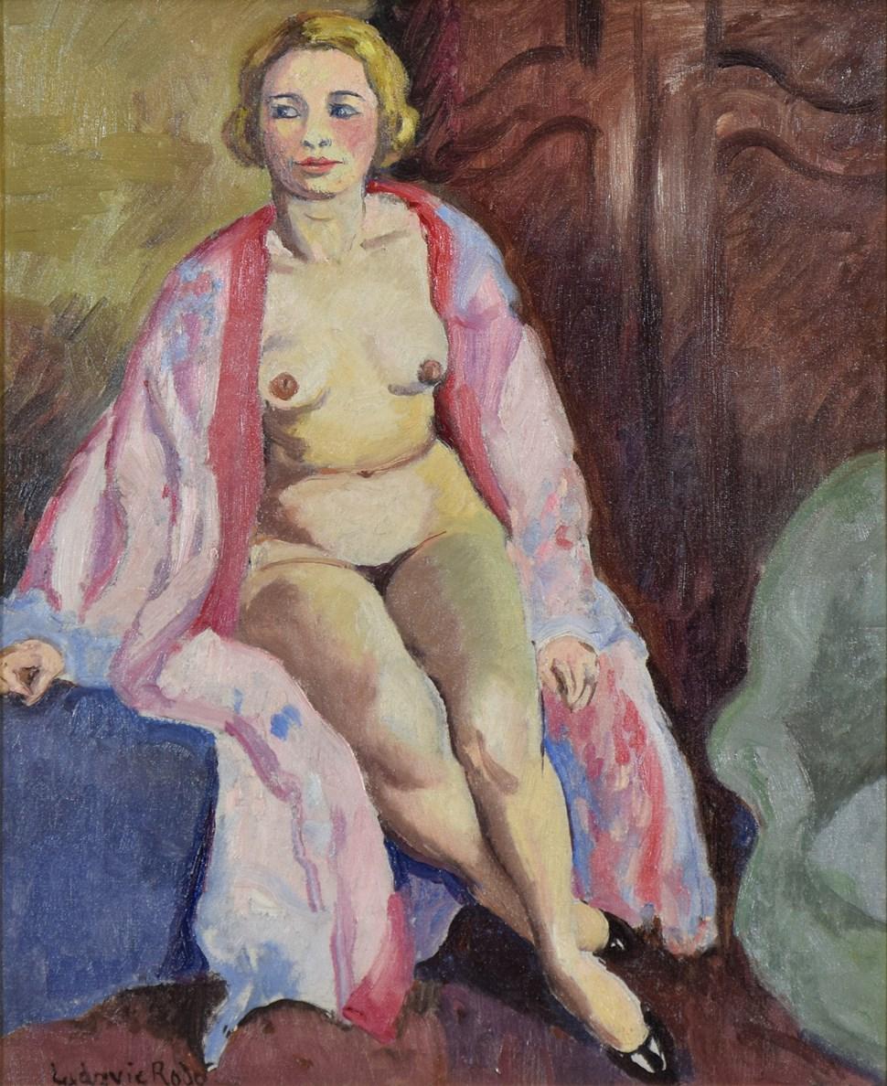 Nue Assise - Ludovic-Rodo Pissarro (1878 - 1952)