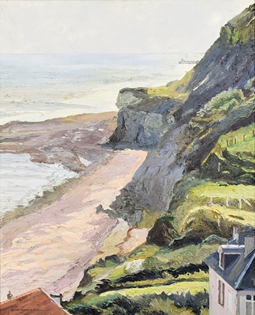 Hugues Pissarro dit Pomié - La Falaise de Sainte-Honorine