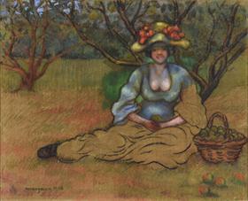Georges Manzana Pissarro - Récolte des Pommes