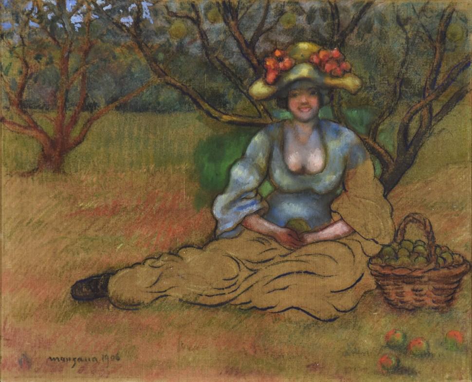 Récolte des Pommes  - Georges Manzana Pissarro (1871 - 1961)