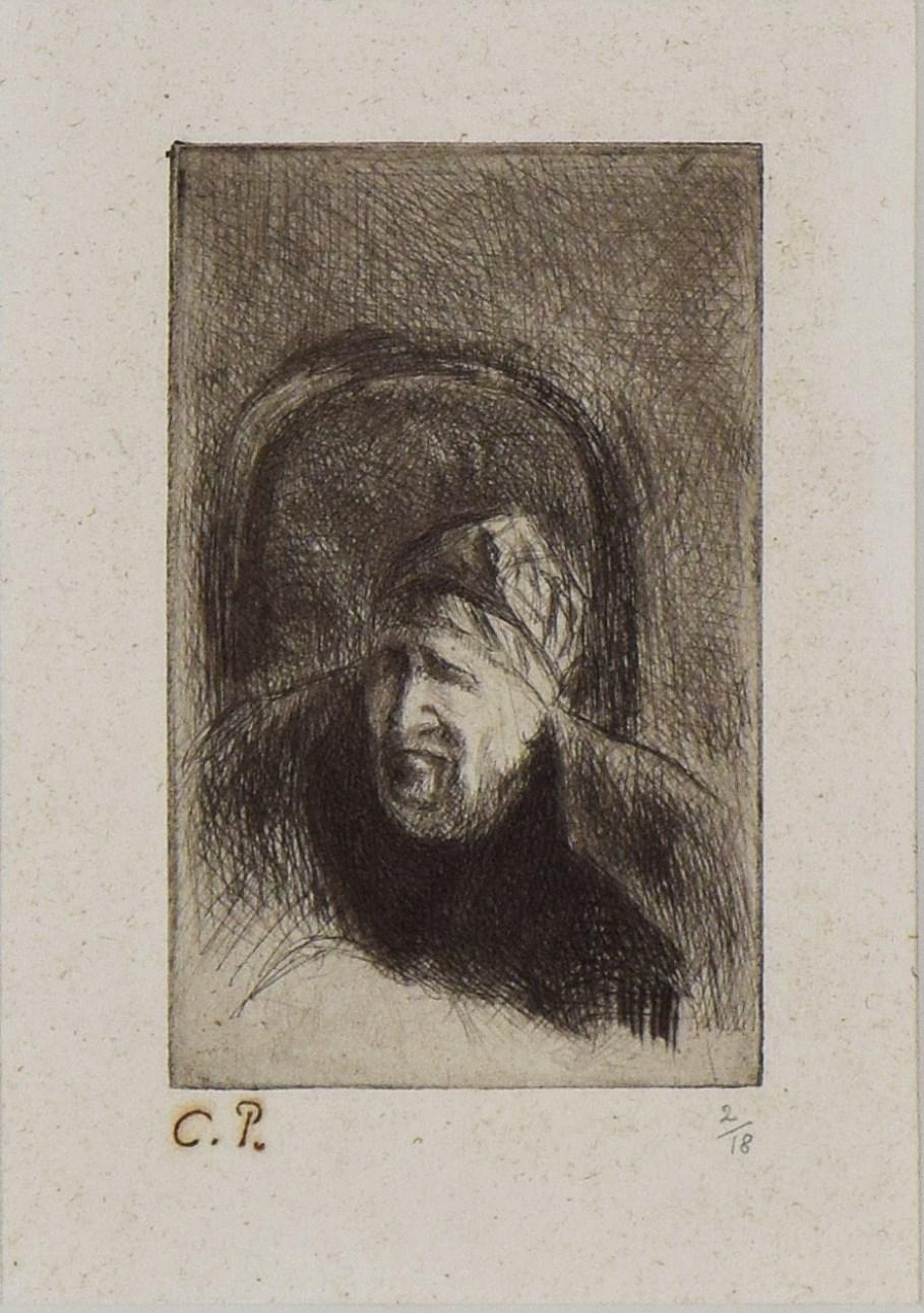 Grand'mère dans son Fauteuil (La Mère de l'Artiste) - Camille Pissarro (1830 - 1903)