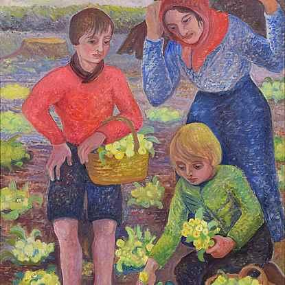 Spring (Primrose Gathering) - Orovida Pissarro (1893 - 1968)