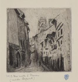 Camille Pissarro - Une Ruelle à Rouen (Rue des Arpents)