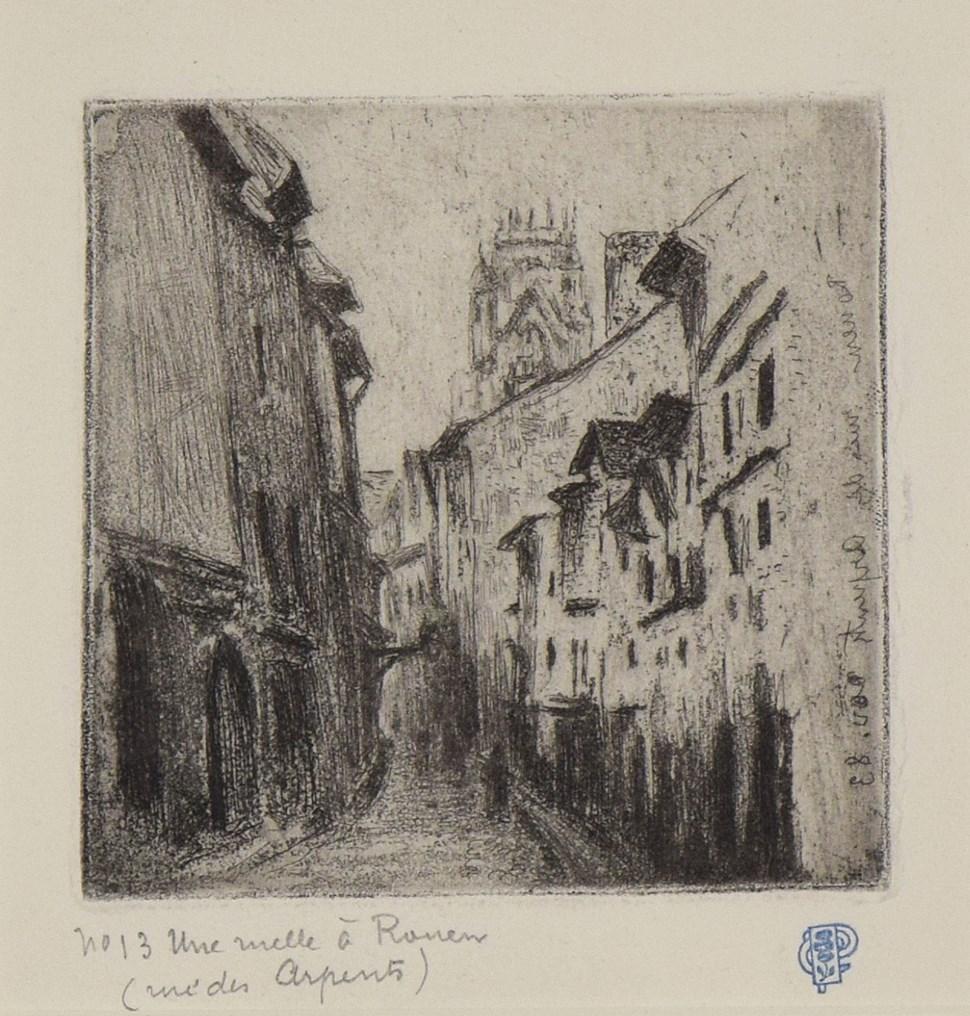 Une Ruelle à Rouen (Rue des Arpents) - Camille Pissarro (1830 - 1903)