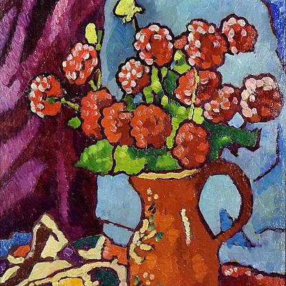 Fleurs Rouges à la Cruche Brune - Louis Valtat (1869 - 1952)
