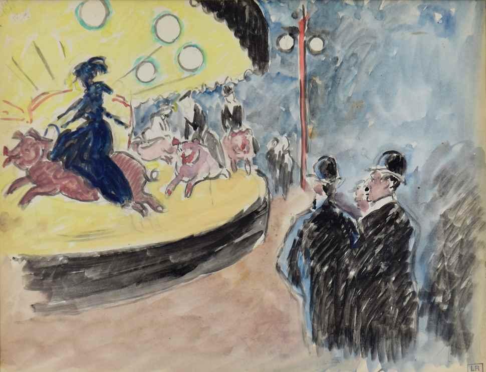 La Fête Foraine - Ludovic-Rodo Pissarro (1878 - 1952)