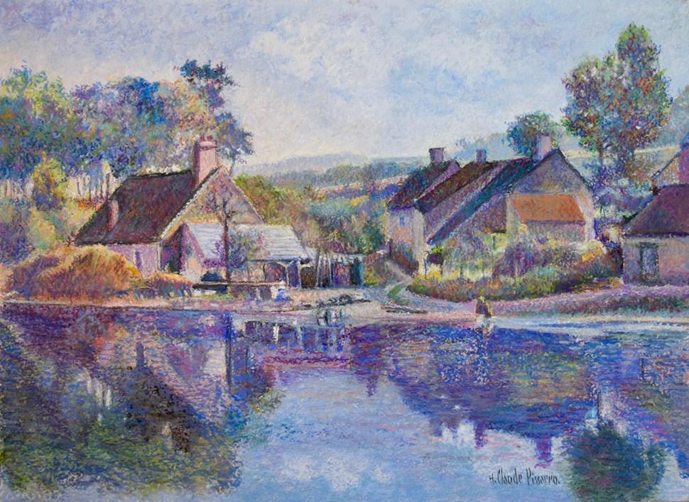 Étang du Seu (Saint-Honoré-Les-Bains) - H. Claude Pissarro (b. 1935 - )
