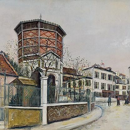 Place Jean-Baptiste-Clément - Maurice  Utrillo (1883 - 1955)