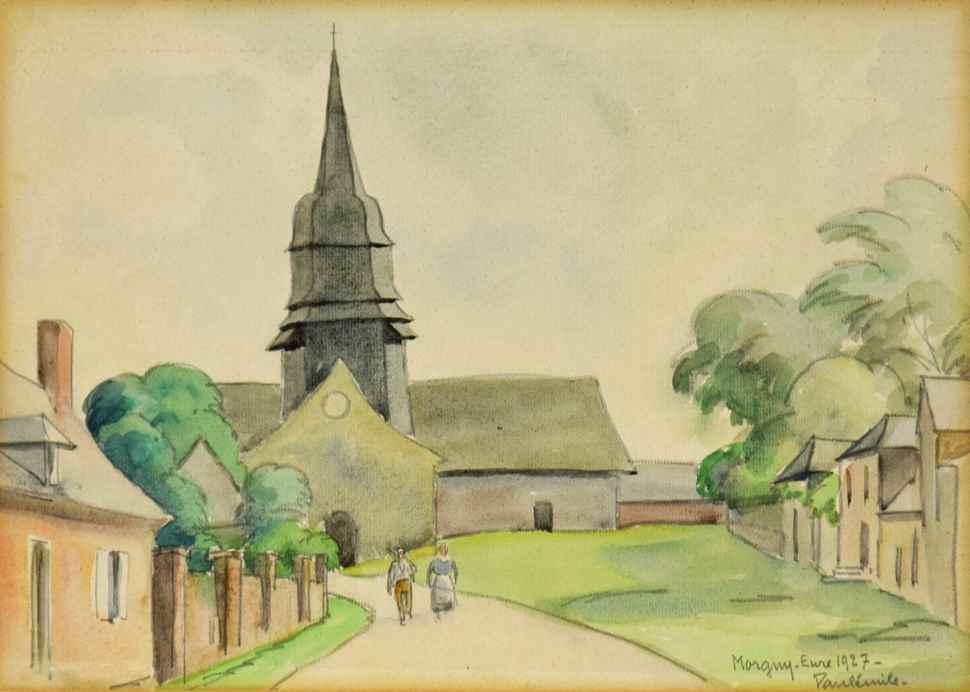 L'Église de Morgny-Eure - Paulémile Pissarro (1884 - 1972)