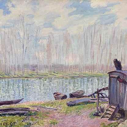 Bords du Loing - Alfred Sisley (1839 - 1899)