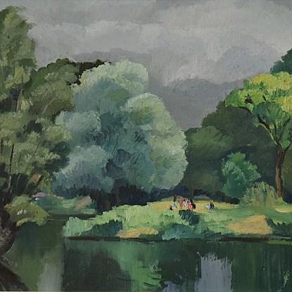 Personnages le Long de l'Eure - Paulémile Pissarro (1884 - 1972)
