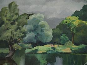 Paulémile Pissarro - Personnages le Long de l'Eure