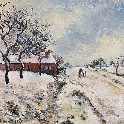 Route Enneigée avec Maison, Environs d'Éragny - Camille Pissarro (1830 - 1903)
