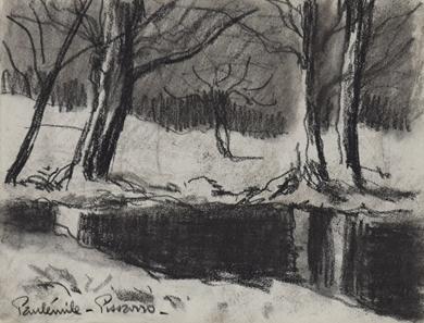 Paulémile Pissarro - Bord de rivière