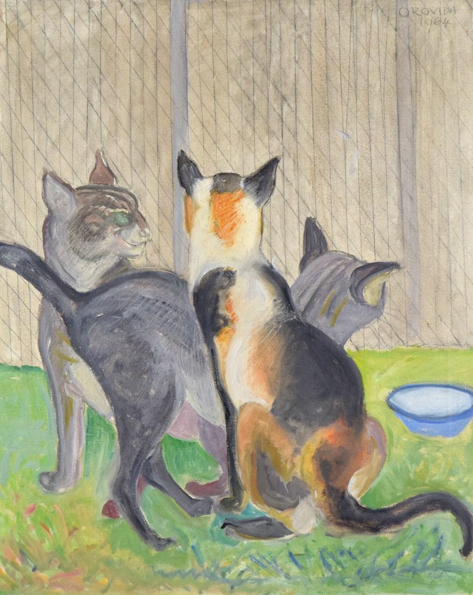 The Cattery - Orovida Pissarro (1893 - 1968)