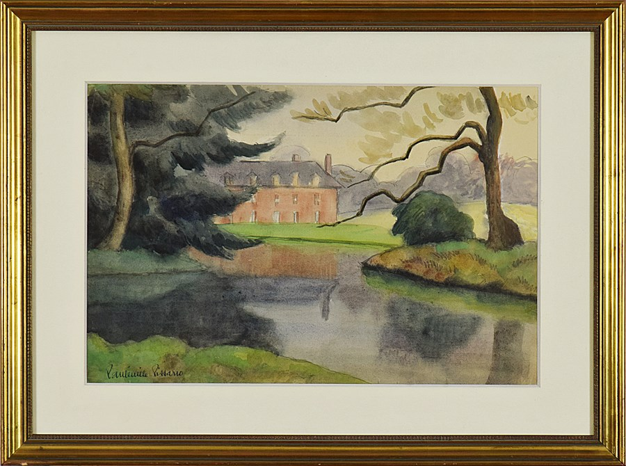 House with Garden and Lake - Paulémile Pissarro (1884 - 1972)