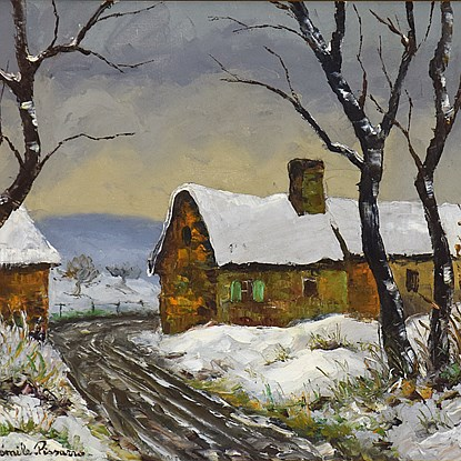 Neige à Clécy - Paulémile Pissarro (1884 - 1972)