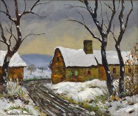 Paulémile Pissarro - Neige à Clécy