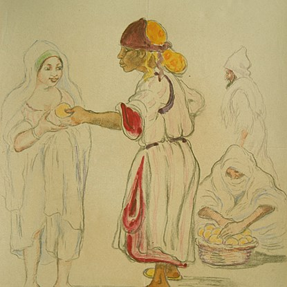 Femmes Orientales - Georges Manzana Pissarro (1871 - 1961)