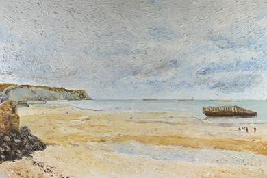 Hugues Pissarro dit Pomié - La Plage d'Arromanches