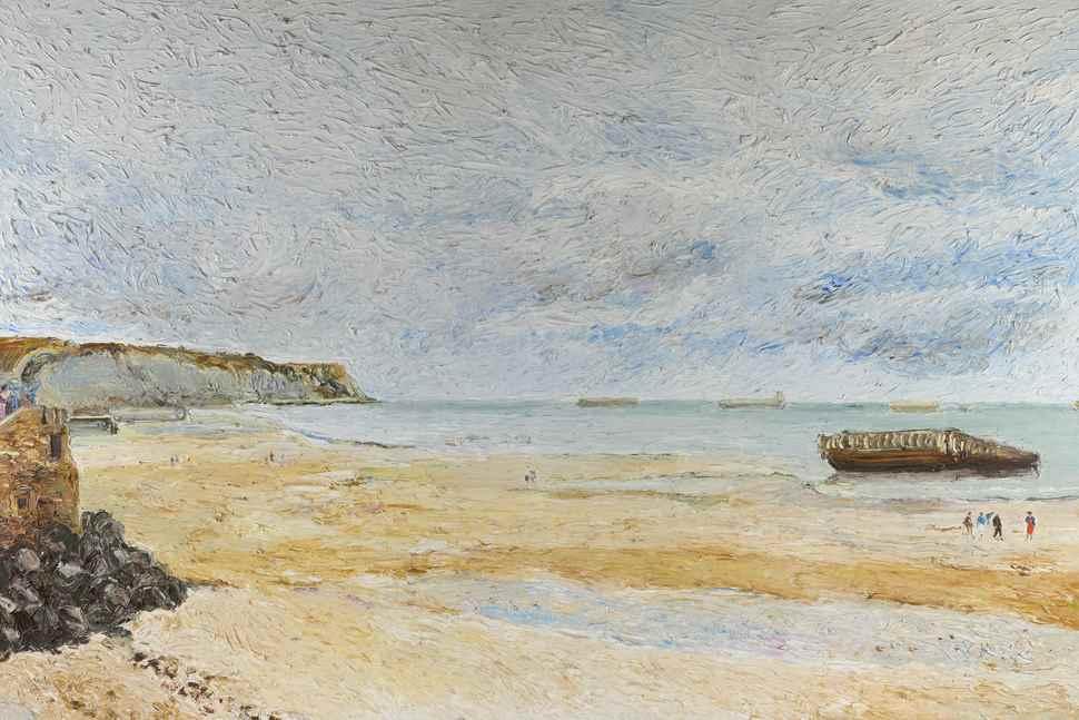 La Plage d'Arromanches - Hugues Pissarro dit Pomié (b. 1935 - )