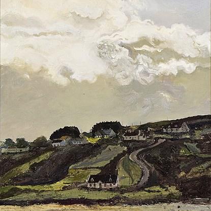 Route de Meenaclady, La Plage - Hugues dit Pomié Pissarro (b. 1935 - )