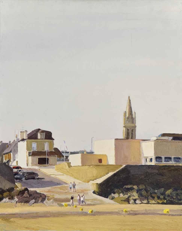 Arromanches - La Cale du Musée - Hugues dit Pomié Pissarro (b. 1935 - )