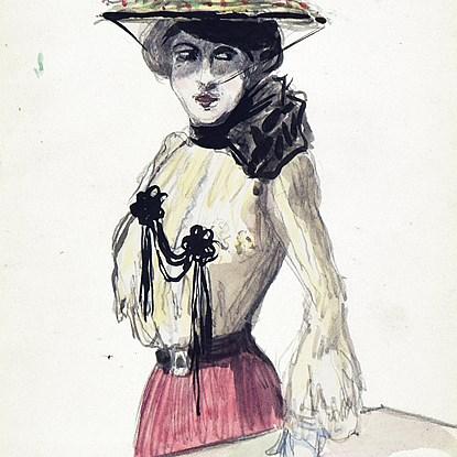 La Parisienne - Ludovic-Rodo Pissarro (1878 - 1952)