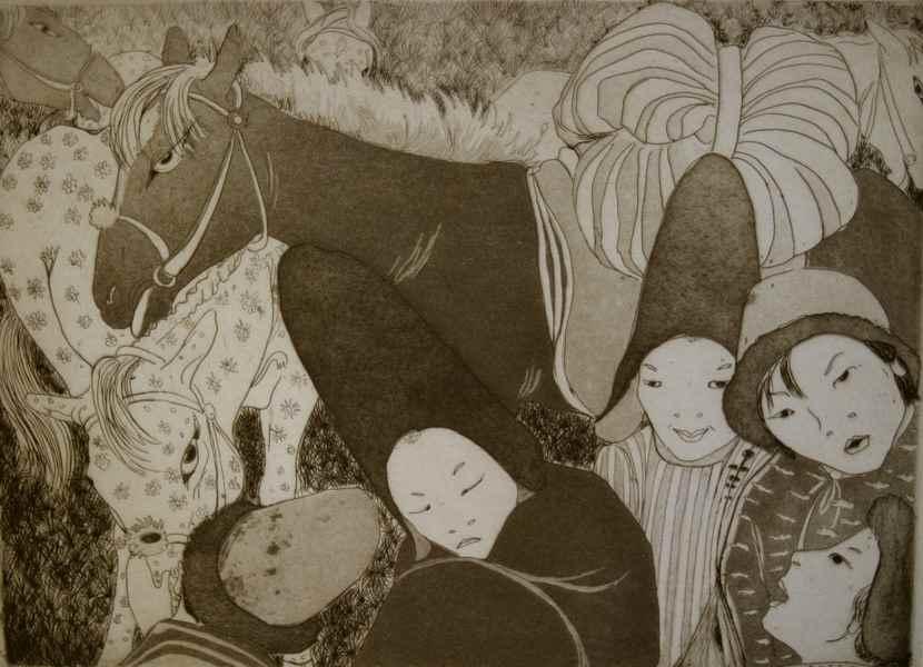 The Nomads - Orovida Pissarro (1893 - 1968)