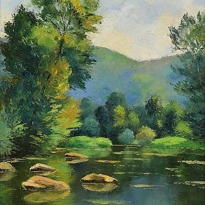 Les Pierres dans l'Orne  - Paulémile Pissarro (1884 - 1972)