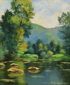 Paulémile Pissarro - Les Pierres dans l'Orne