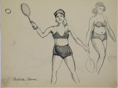 Paulémile Pissarro - Yvonne Jouant au Tennis