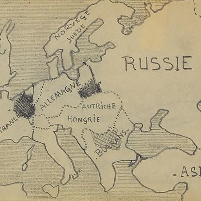 Carte de l'Europe - Paulémile Pissarro (1884 - 1972)