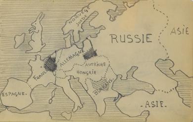 Paulémile Pissarro - Carte de l'Europe