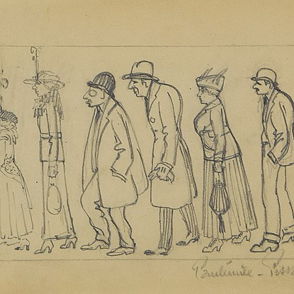 Figures de Profil - Paulémile Pissarro (1884 - 1972)