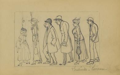 Paulémile Pissarro - Figures de Profil