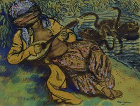 Georges Manzana Pissarro - L'Orientale à la Mandoline