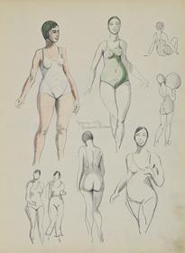 Paulémile Pissarro - Sketchbook 32 - Page 51 Yvonne 1934