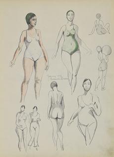 Paulémile Pissarro - Etude d'Yvonne en 1934