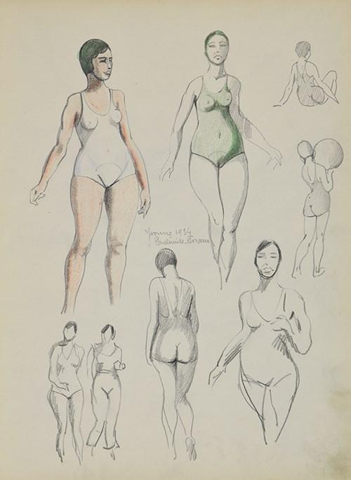 Sketchbook 32 - Page 51 Yvonne 1934 - Paulémile Pissarro (1884 - 1972)